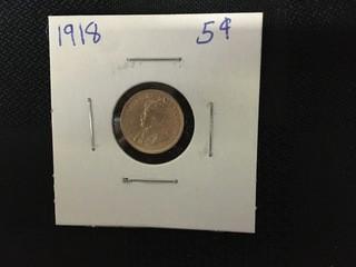 1918 Five Cent.