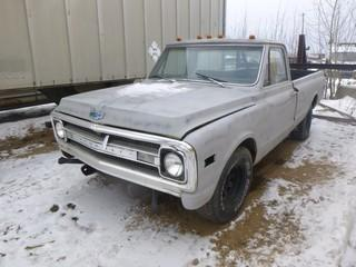 1968 Chevrolet 1/2 Ton, 350 CU in V8, 2 Wheel Drive, VIN CE1491858745, Showing 55014 Miles *Note: Running Condition Unknown, Keys Getting Cut*