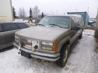 2000 GMC 3500 4X4 1 Ton Pickup C/w Vortec V8 7.4L Engine, A/T, Power Windows, Showing 314,037 KM, VIN 1GTHK33J8YF431178