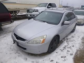 2003 Honda Accord c/w Inline 4, 2.3L, 4 Doors, Showing 302,557 KM, VIN 1HGCM56623A804777