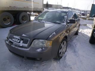 2002 Audi A6 C/w Inline 4, V6 3.0L,A/T, Showing 206,116 KM, VIN WAUVT64B72N026433,