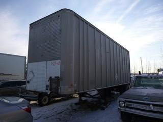 28' Van Trailer , S/A , S/N N31688 * Note Used as Tool Crib*