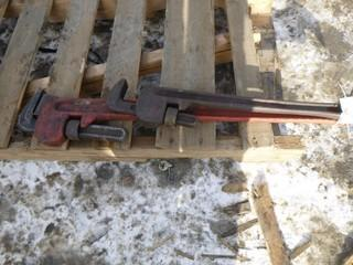 """(1) 24"""" Pipe Wrench, (1) 36"""" Pipe Wrench"""