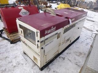 Shindaiwa Kwiet Power Diesel Generator, Model DGK25B, C/w Isuzu 4LE1 31 HP Engine, Showing 3,941 Hours, 3 Phase, 480 Volt, 625 Amp, S/N 71031-000371