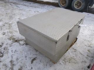 "Checker Plate Truck Box, 56.5"" x 36.5"" x 26.5"""