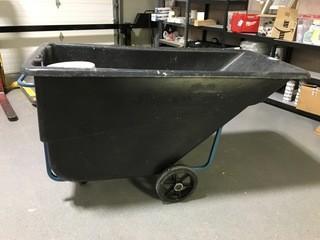 Black Garbage Bin Cart