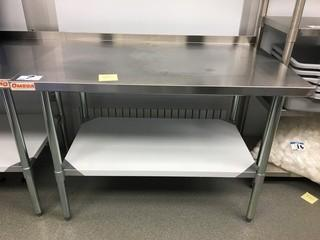 """Stainless Steel Table 48"""" x 30"""" x 34 1/2"""""""