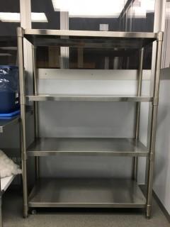 """4 Shelf Stainless Steel Shelf 5' x 17"""" x 41"""""""