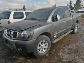 2005 Nissan Titan 4X4 Extended Cab c/w 5.6L V8 Engine, A/T, A/C, Folding Box Cover, Side Storage Compartments, Tires 285/70R17 Tires, Showing 49,927 KM, VIN 1N6AA07B55N503152