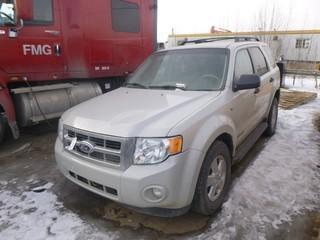 2008 Ford Escape c/w V6, A/T, Tires 235/70R16, Showing 200, 726kms. VIN 1FMCU93158KA88307