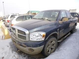 Dodge Ram 1500 4X4 Pick Up c/w 5.7L V8 Hemi Engine, A/T, Kobalt Truck Box, Tires 275/60R20