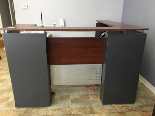 Reception Desk with Rolling File Cabinet