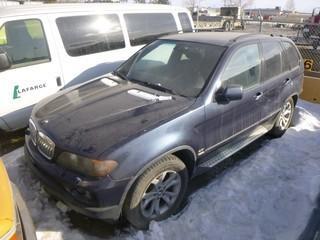 2004 BMW X5 c/w 4.4L V8 Engine, A/T, Tires 255/50R19, VIN 5UXFB53554LV05494 *Note: Running Condition Unknown, Keys Getting Cut*