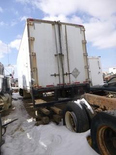 "24' Cargo Trailer Body, C/w 8'4"" x 50.5"" Metal Tank, 2 Side Doors, No Hitch Assembly, No Wheel Assembly, SN VA24102102"