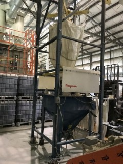Flexicon Bulk Bag Discharger Frame & Conveying System S/N BOM-812016.