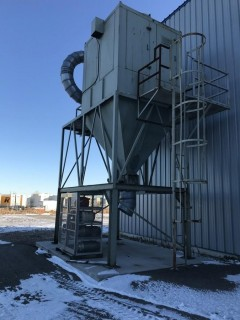 Kraemer Daltec Industries Model 1E-21CWBH ARR T9 30 HP Dust Collector Bin S/N 00-7743.