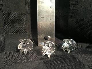 (3) Swarovski Crystal Piglets.