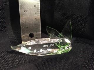 Swarovski Crystal Endangered Wildlife 2008-2010 Plaque.