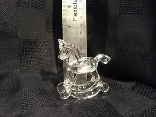 Swarovski Crystal Rocking Horse.