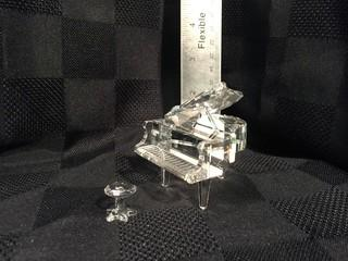 Swarovski Crystal Piano & Stool.