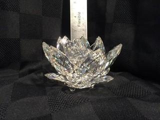 Swarovski Crystal Flower Candle Holder.