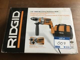 "Ridgid 1/2"" USR Masonry Hammer Drill."