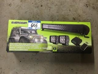 5 Pack LED Light Bar & Work Light w/Remote.