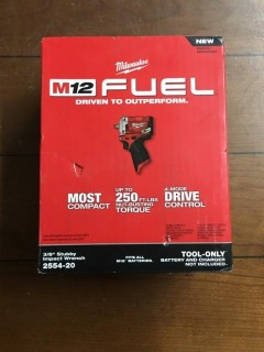 Milwaukee M12 Fuel 3/8 Stubby Impact Wrench.