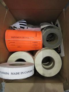 Box of Made in Canada Labels.