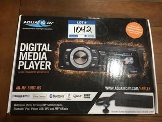 Aquatic AV AQ-MP-5UBT-HS Digital Media Player For Harley Davidson Motorcycles.