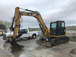 2015 Cat 308E 2 Mini Excavator c/w Thumb. Showing 5,152 Hours. S/N CAT0308ECFJX04155. *Hydraulic Oil Leak at Quick Attach*