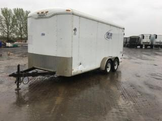 "2009 Haulmark 16' T/A Enclosed Trailer c/w 2 5/16"" Ball, 3,500 LB Axles. S/N 16HPB16299U061934."