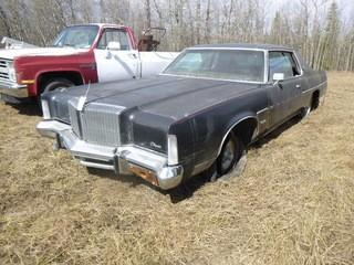 1978 Chrysler New Yorker 440 Car C/w A/T, Gas Engine. Showing 99,548kms. VIN CS23T7C149467 *Note: Running Condition Unknown*