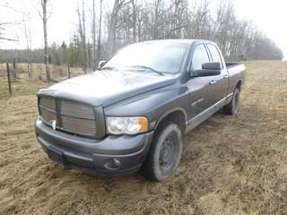 2004 Dodge Ram 1500 4X4 Pick Up C/w 5.7L V8, A/T, Gas, Showing 318,537kms. VIN 1D7HU18D74S772774