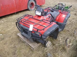 2001 Honda Foreman Rubicon C/w A/T, Gas. VIN 478TE262914001489 *Note: No Wheels, Running Condition Unknown*