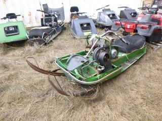 1973 John Deere 400 Snowmobile. SN 4000B017660M *Note: Parts Only*