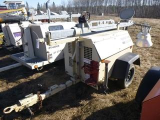 2005 Ingersoll Rand Light Plant C/w Pintle Hitch And (3) Lights. Showing 12440hrs. S/N 350386UJ0789