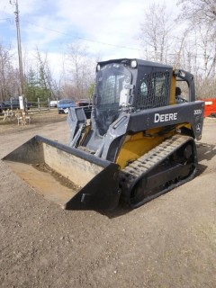 2012 John Deere 323D Skidsteer C/w Aux Hyd, A/C Cab, Air Ride Seat, Joystick Strg And Bucket. Showing 5258hrs. SN 1T0323DKPCG223006 *Note: Item Cannot Be Removed Until 12PM June 5th, Unless Mutually Agreed Upon*