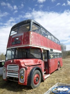 1966 Leyland Double Decker Diesel Bus C/w Manual Transmission. *Note: Running Condition Unknown*
