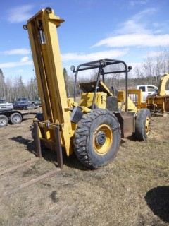 Care T60-14 6000lb Diesel Forklift C/w 4.15L. Showing 5586hrs. SN 780-T60-14 *Note: Motor Not Connected, Running Condition Unknown*
