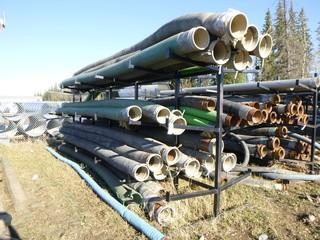 Approx 294in x 72in x 99in Pipe Rack C/w Qty Of Assorted Size Hoses *Note: Buyer Responsible For Load Out*