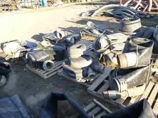 Qty Of (12) Assorted Size Lay Flat Hose *Note: Buyer Responsible For Load Out*
