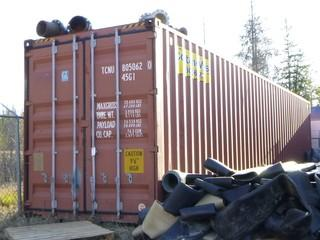 "40ft 9'6"" High Storage Container. SN TCNU80506245G1 *Note: Contents Not Included, Buyer Responsible For Load Out*"