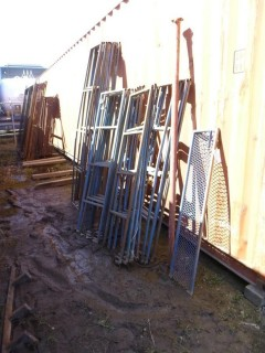 Qty Of Misc Metal Bars, Racks And Fence Supports