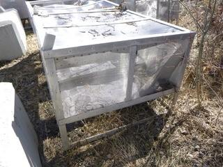 "Approx 48in X 48in X 38in Fish Screen w/ 10"" Outlet"