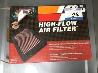 K&N High-Flow Air Filter, 99-06 Gmc, P/N KNE-33-2135.