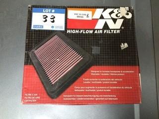 K&N High-Flow Air Filter, P/N 33-2206.