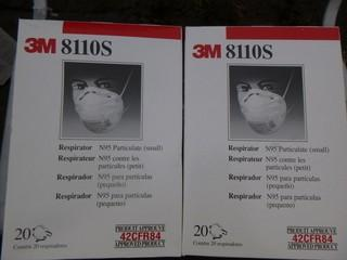 Qty Of Approx (40) 3M N95 Respirators *Note: Proceeds From This Item Will Be Donated To The University Hospital Foundation*