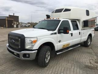 2011 Ford F350 SD XLT Crew Cab 4x4 c/w 6.7L Diesel, Auto, A/C. Showing 404,696 Kms. S/N 1FT8W3BT6BEB63817.