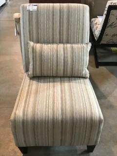Lebon Armless Chair w/ Pillows.